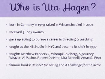 Drama Hagen Acting Method Powerpoint