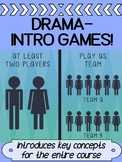Drama - INTRO warm up GAMES for high school