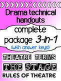 Elements of Drama - Technical Theatre -  Terms, The Stage, Rules