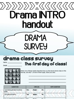 Drama - INTRO - The first day of class student SURVEY