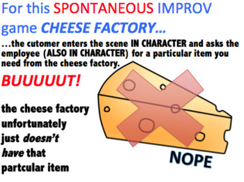 Drama - Improv Game for high school - Cheese Factory!