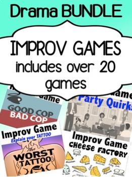 Drama - Improv games for high school students (BUNDLE!)