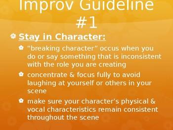 Drama Improvisation Powerpoint with Many Improv Exercises
