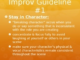 Drama Improvisation Powerpoint with Many Improv Exercises