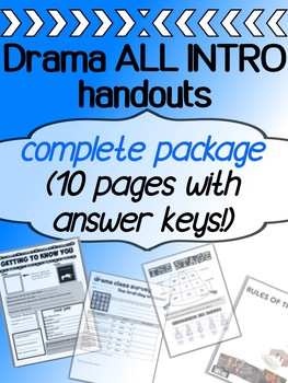 Drama - Intro - Back To School- First week COMPLETE PACKAGE!