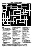Drama - Keywords (Vocabulary) Crossword