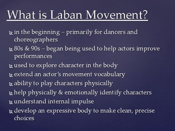 Drama Laban's Eight Efforts Technique Powerpoint