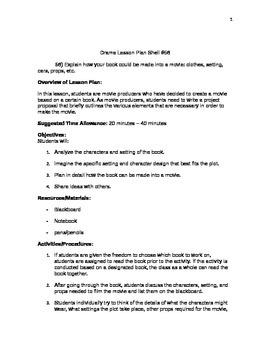Drama Lesson Plan Shell #56