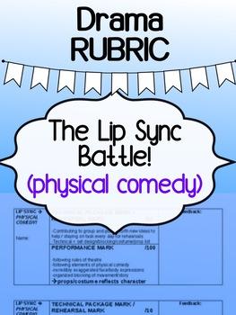 Drama - The Lip Sync Battle Project -  RUBRIC