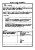 Drama Long Term Plan for 5th Class EDITABLE