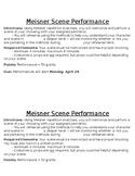 Drama Meisner Technique Scene Performance Project