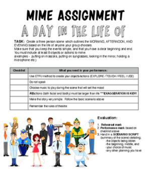 Drama - Mime Assignment (2 options!)