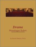 Drama -- Monologue Rubric