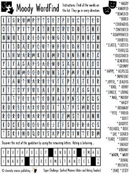 Drama - Mood WordFind Puzzle