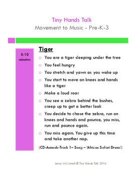Drama - Movement Lesson Plans - ANIMALS - Pre K-3