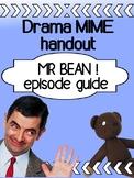 Drama - Mr. Bean  (MIME handout for high school)
