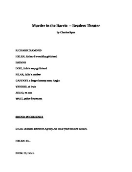 Drama - Murder in the Barrio - Readers Theater