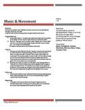 Drama: Music and Movement Grades 1-3
