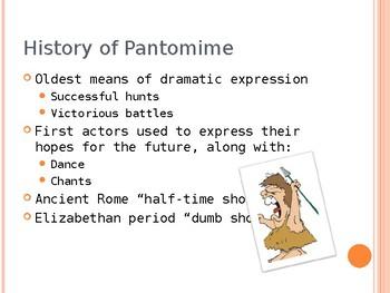 Drama Pantomime Powerpoint
