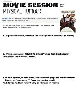 Drama - Physical Comedy Unit - Bundle - Complete Unit