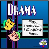 Drama Play Knowledge Extensions Menu Choice Board