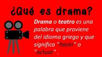 Drama PowerPoint in Spanish