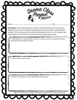 Drama Project Planner