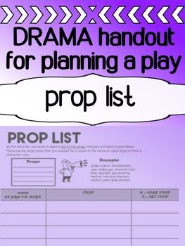 Drama - Props - Blank Worksheet