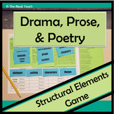 Drama, Prose, Poetry Structural Elements Game