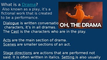 Drama, Prose, and Poetry