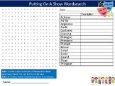 Drama Putting On A Show Wordsearch Sheet Starter Activity Keywords  Lesson