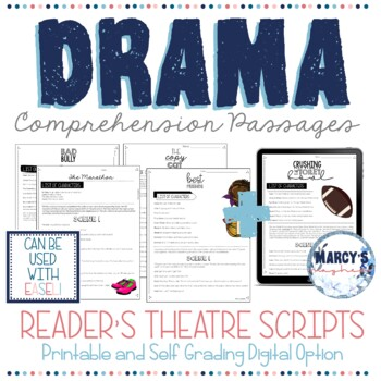 Reading Comprehension Passages for DRAMA 4th & 5th grades