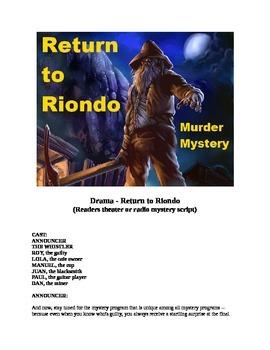 Drama - Return to Riondo - Murder Mystery