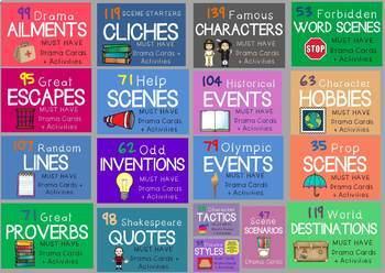 Drama / Role Play Cards MEGA BUNDLE (Drama Cards + Suggested Drama Activities)