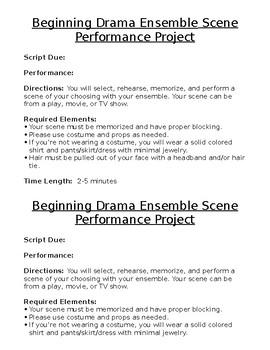 Drama Scene Performance Project