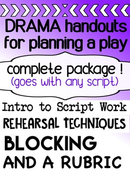Drama - Planning a play - for high school