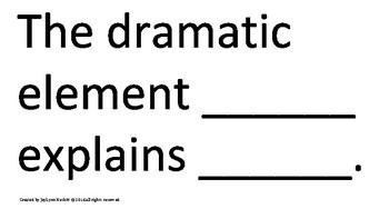 Drama Sentence Frames
