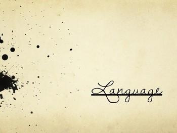 Drama Shakespearean Language Powerpoint