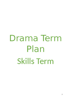 Drama Skills 12 WEEK TERM PLAN for 3 age groups