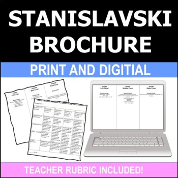 Drama Theatre Arts Stanislavski Brochure Project