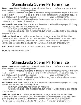 Drama Stanislavski Method Scene Performance Project