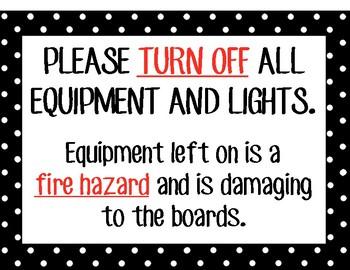 Drama Tech Booth Equipment Sign