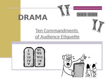 Drama - Ten Commandments of Audience Etiquette