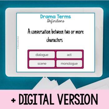 Drama Terms Bundle: Vocabulary List, BINGO, and Quiz