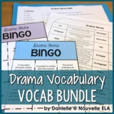 Drama Terms Bundle: Vocabulary List, BINGO, and Quiz