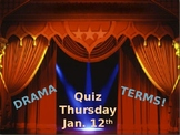 Drama Terms Fill-In Notes PowerPoint