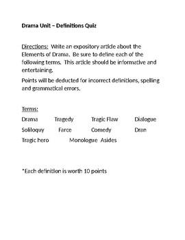 Drama Terms Quiz