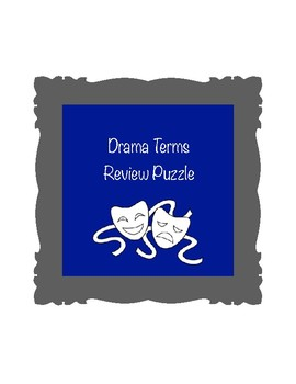 Drama Terms Review Puzzle