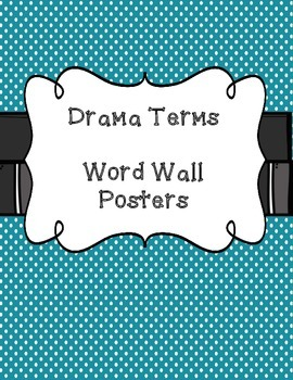 Drama Terms Word Wall Posters