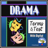 Elements of Drama Test and Vocabulary Terms and Graphic Organizer